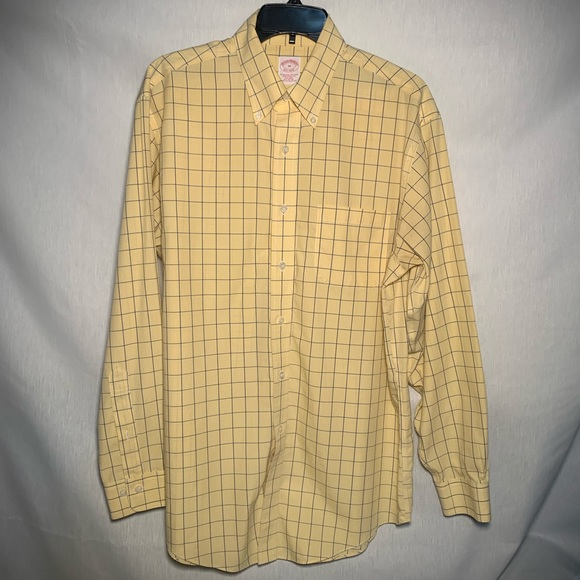 Brooks Brothers Other - Brooks Brothers Yellow Plaid Button Down Sz M